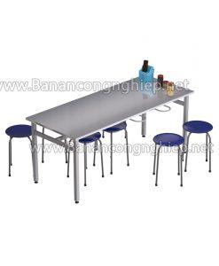 Bàn ăn công nghiệp BA18Si, bàn dành cho 8 người rộng 1m8